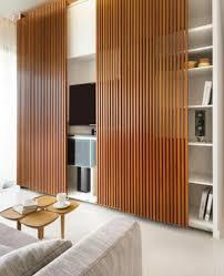 tv schrankwand trennwand raumteiler holz furnituredesigns