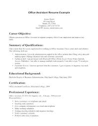 Medical Resume Objective Examples Assistant Certificate Administrative Unique
