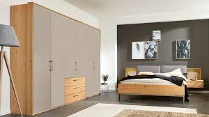 interliving schlafzimmer serie 1008 komplettzimmer mit aufsätzen taupefarbene lackoberflächen balkeneiche vierteili