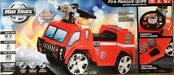 100 Kid Trax Fire Truck Battery Amazoncom Rescue Vehicle 6V Toys Games