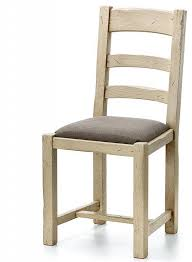 esszimmerstuhl mit polstersitz ariège 45x94x48cm eiche massiv vollholz stühle vintage