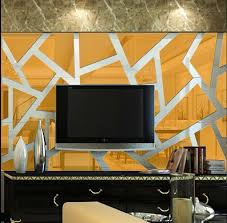 Hot Sell 3D Three Dimensional Mirror Wall Stickers Ice Lattice Puzzle For Living Room Entrance Bedroom Decoration In From Home