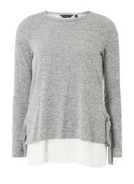 100 Two In One Grey Tie Side Top DorothyPerkins Singapore