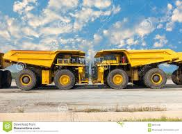 100 Mining Truck Coal On Parking Rod Super Dump Stock Image