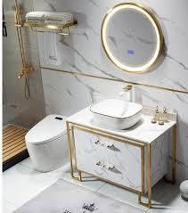 smart runde spiegel licht luxus edelstahl bad schrank