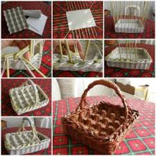 DIY Crafts Wonderful Easter Egg Basket From Newspaper