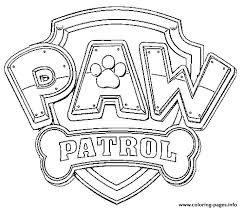 Paw Patrol Logo Coloring Pages