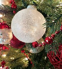 Rice Krispie Christmas Tree Ornaments by Diy Glitter Snow Ornaments Two Sisters Crafting