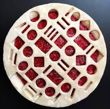 geometric strawberry raspberry rhubarb jam pie lokokitchen