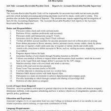 Resume Sample For Accounts Receivable Clerk Inspirationa Title Examples Accounting Awesome
