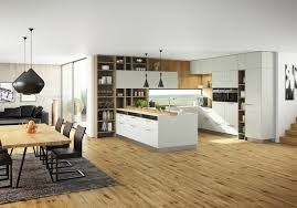 design the kitchen living room in a modern and practical way