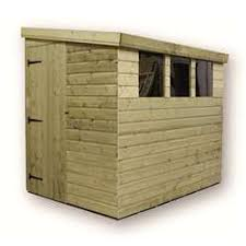 8 x 6 pressure treated pent shed