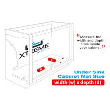 Sink Protector Mat Uk by Kitchen Under Sink Cabinet Mats Black Or Beige Xtreme Mats