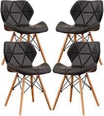 mifi 4er set esszimmerstühle moderne gepolsterte esszimmer esszimmerstühle aus holz holzstühle holzbeine für das home office dressing stuhl