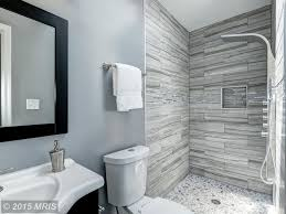 contemporary 3 4 bathroom with wall mounted sink shower