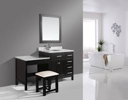 Single Sink Bathroom Vanity With Makeup Table by Design Element The Vanity Superstore