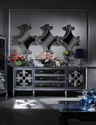 casa padrino luxus barock wohnzimmer set grau blau silber kommode und 3 spiegel barock wohnzimmermöbel barockgroßhandel de
