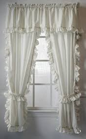 Dotted Swiss Curtains White by Cape Cod White Ruffled Curtains Paul U0027s Home Fashions