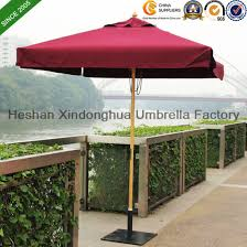 2m Square Wooden Teak Garden Umbrella For Outdoor Furniture WU S42020