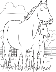 Running Horse Coloring Book Pictures