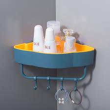 punch freies ecke bad regale mit haken bad zubehör shoo dusche regal halter wand montiert lagerung rack