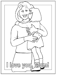 I Love You Mom Mothers Day Coloring Pages For Kids Printable