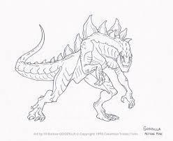 Astounding Godzilla Coloring Pages Image 5