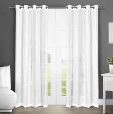 Sheer Curtain Panels With Grommets by Amazon Com Exclusive Home Apollo Sheer Grommet Top Window Curtain