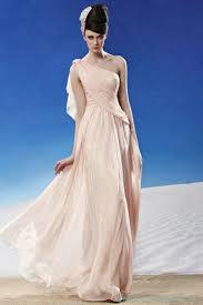 chiffon draped one shoulder goddess evening dresses 2016 long