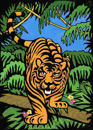 Bengal Tiger Blacklight 3D Poster