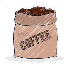 1450523 Bean Sack Burlap Of Coffee Beans