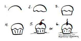 How to draw a Good Enough birthday cupcake tutorial image by Jeannel King