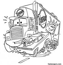 Mack Car 2 Printbale Coloring Pages Disney Characters Print