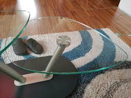 glastisch wohnzimmer tisch glas drehbar