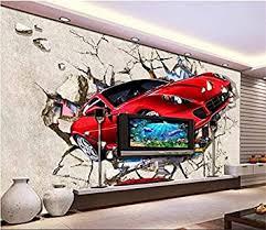 bzdhwwh wandbild wohnzimmer sport auto brechen wandmalerei