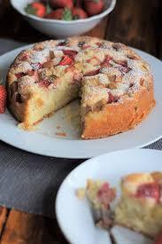 erdbeer rhabarber joghurtkuchen rabarberkuchen rezept