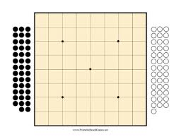 Printable Go Board 9x9