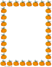 Halloween border fall pumpkin borders clipart