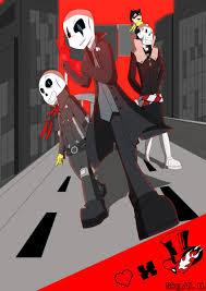 Noa Meisenheimer On Twitter Persona 5 Undertale AU No One Asked For Persona5 Joker Gaster Skull Sans Fox Papyrus
