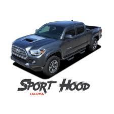 Toyota Tacoma Hood Decal TRD SPORT HOOD Air Intake Wrap Accent Vinyl ... New 2018 Toyota Tacoma Trd Sport Double Cab 5 Bed V6 4x2 Automatic 2019 Upgrade 4 Door Pickup In Kelowna Preowned 2017 Crew Highlands Sr5 Vs 2015 4x4 Reader Review Product 36 Front Windshield Banner Decal Truck Off Chilliwack 2016 Used 4wd Lb At Feature Focus How To Use Clutch Start Cancel The I Tuned Suspension Nav