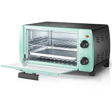 Mainstays 4 Slice Toaster Oven Classic Mint
