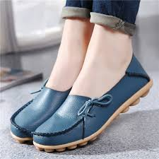Hot Leather Women Flats Shoes Soft Slip On Casual Ballet Woman Fashion Loafers Ladies