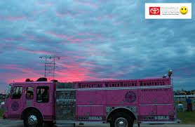 100 Pink Fire Trucks Breast Cancer Awareness Month In Thomasville Thomasville Toyota