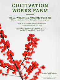 Winterberry Christmas Tree Farm by Cultivation Works Farm Holiday Sale Creative Work Systems