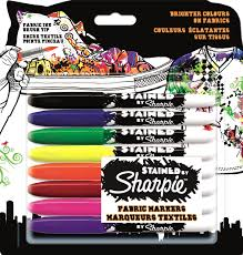 Decorating Fabric With Sharpies by Sharpie Stained Fabric Marker Assorted Colours Pack Of 8