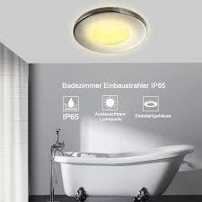 4x 10x ip44 gu10 downlight bathroom fitting led ceiling