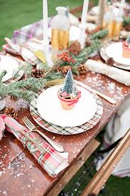 Winter Tablescape With Mini Trees