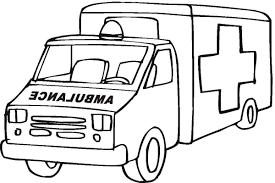 Coloriage Ambulance Coloriage Ambulance De Pompier Camion De