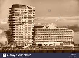 100 Marco Polo Apartments Tower In Hamburgs HafenCity Stock Photo