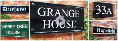 100 Rectangle House UK Style Plaques For Numbers